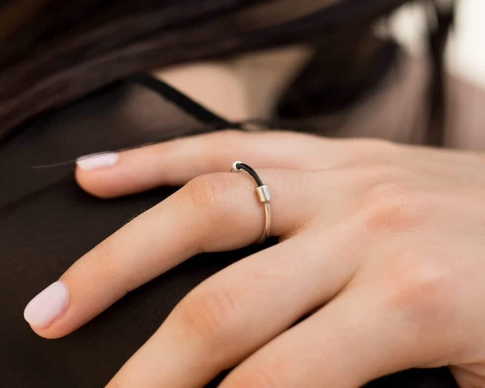 טבעת כבל כסף