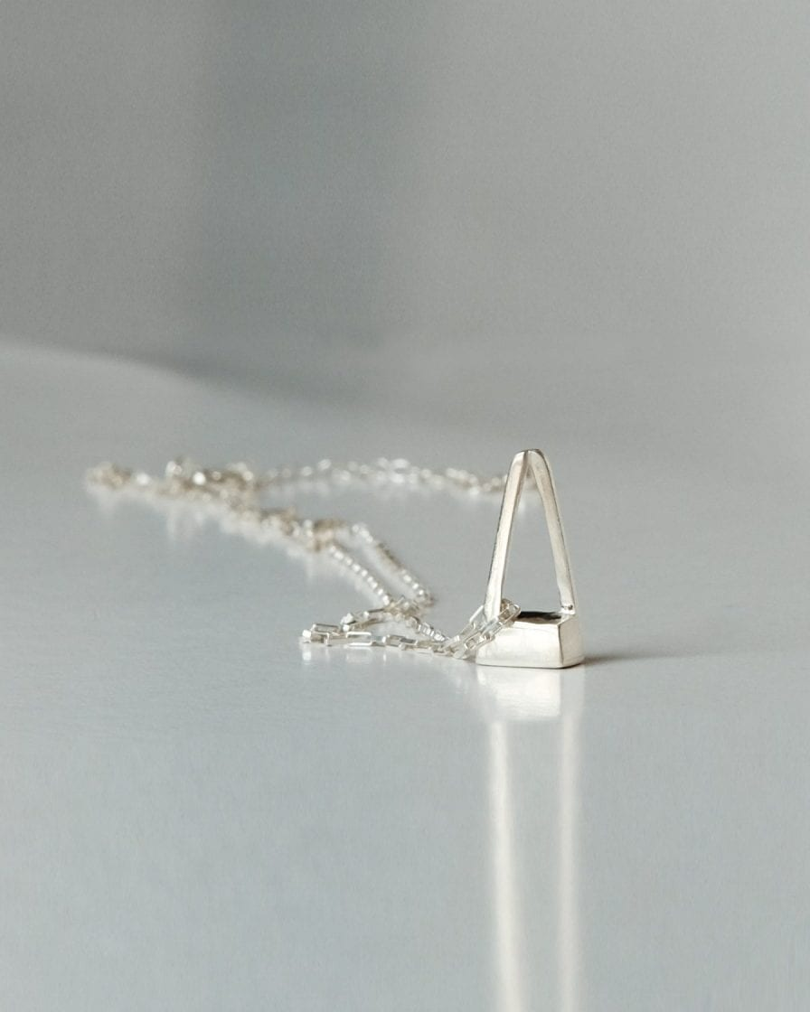 Pyramid Silver Necklace