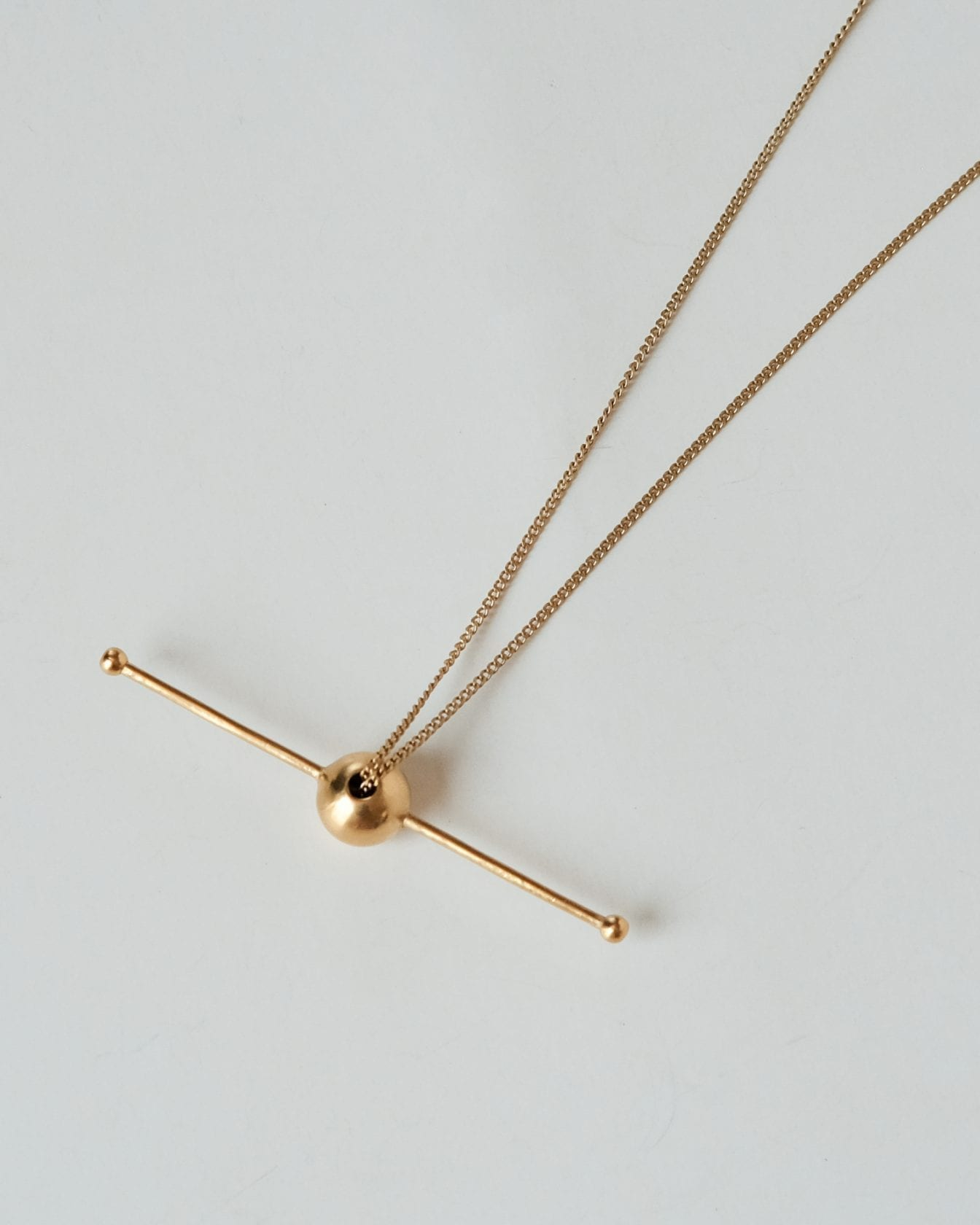 Saturn Gold Necklace