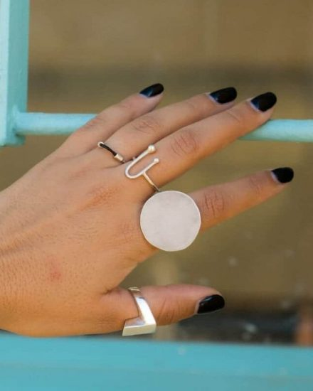 Moon Silver Ring