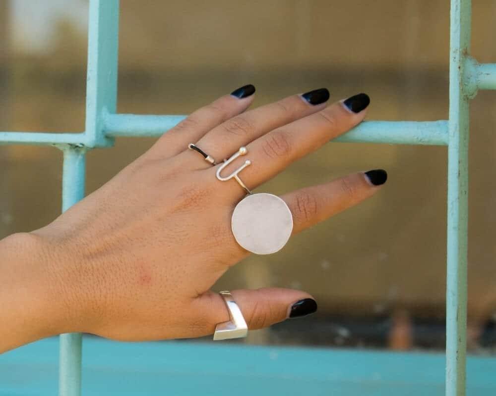 טבעת ירח כסף