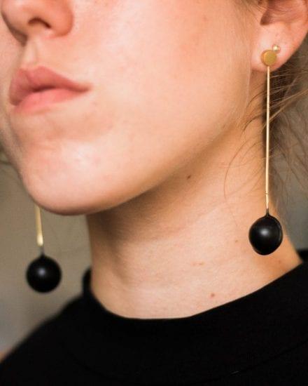 Hanged globe earring
