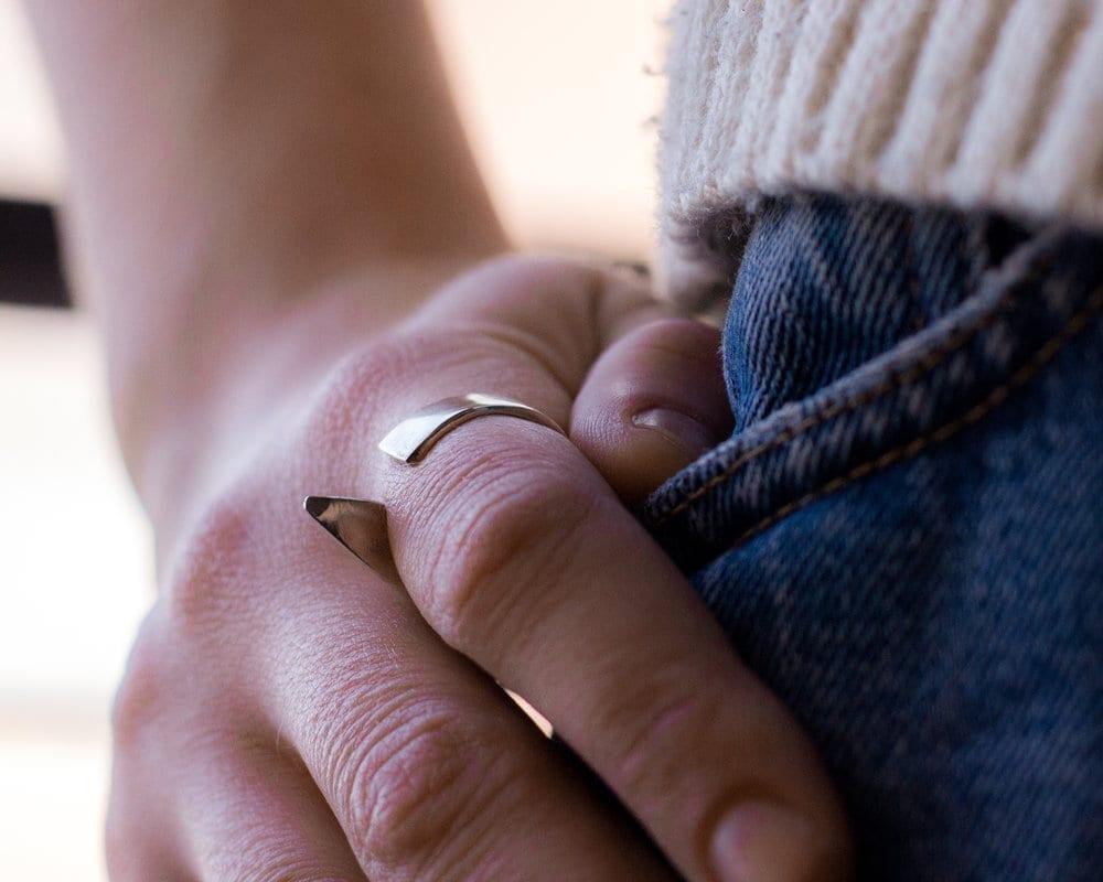 טבעת סנפיר כסף