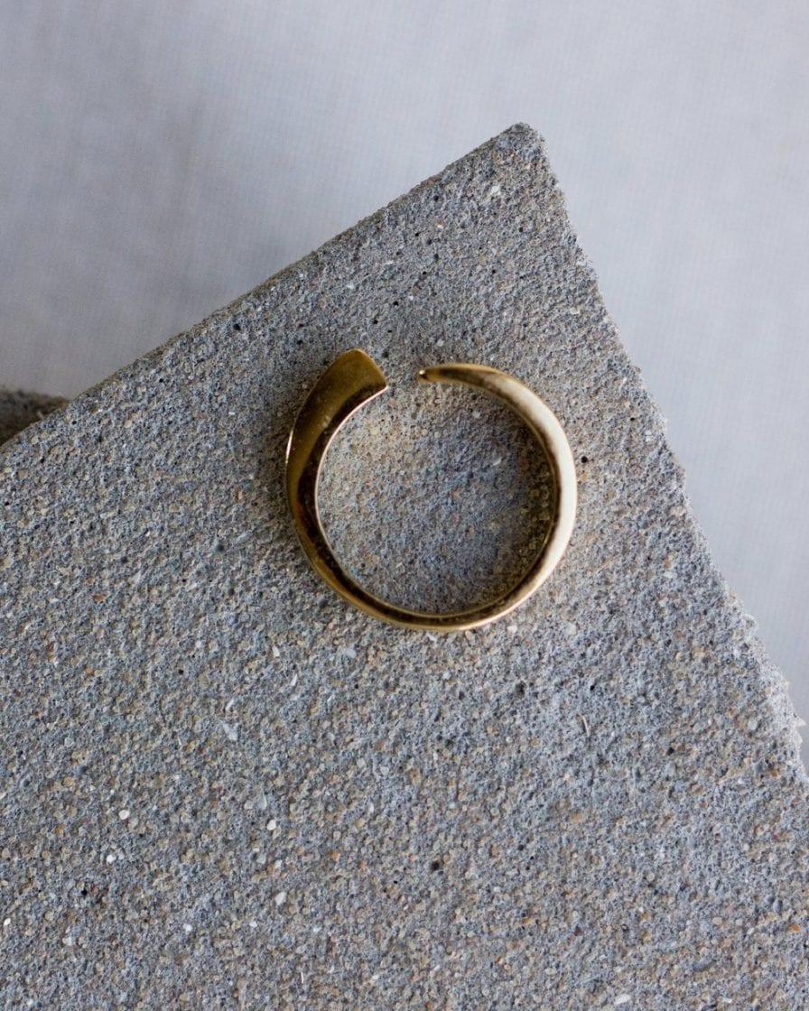 טבעת גיאומטרית זהב 14K