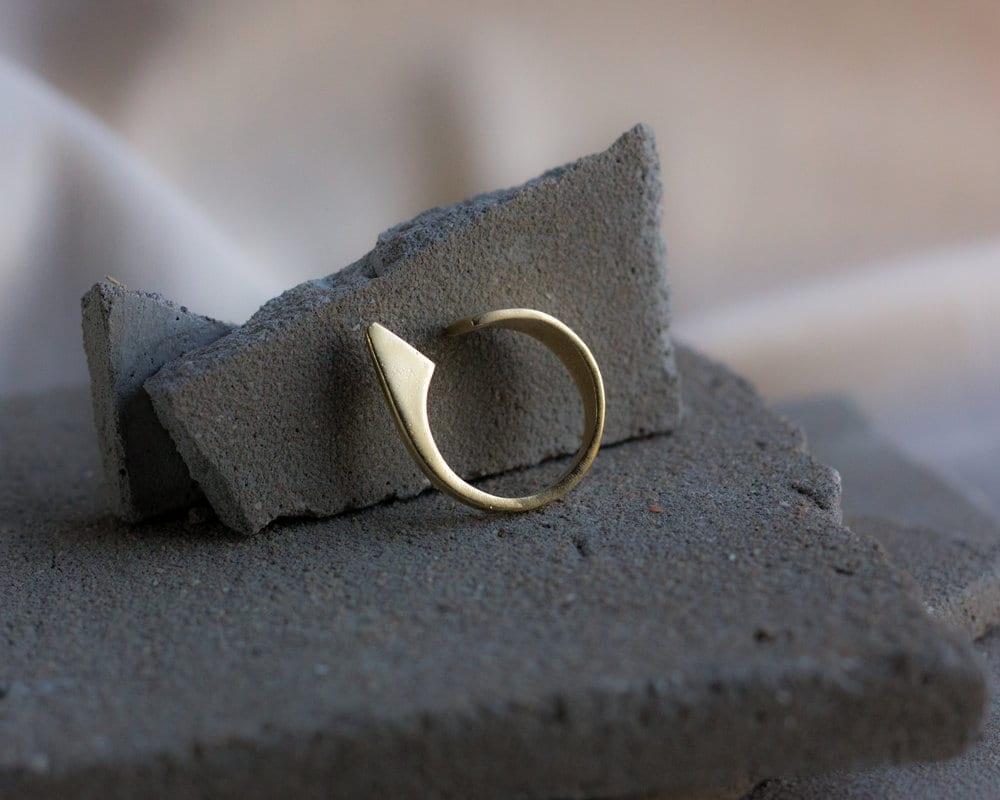 טבעת סנפיר זהב