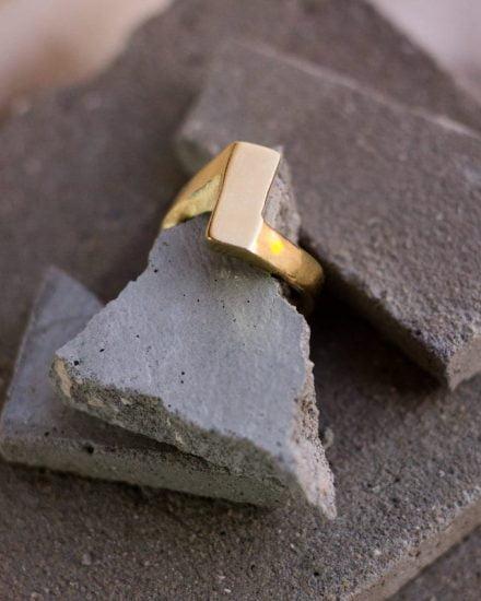 טבעת מטיל זהב