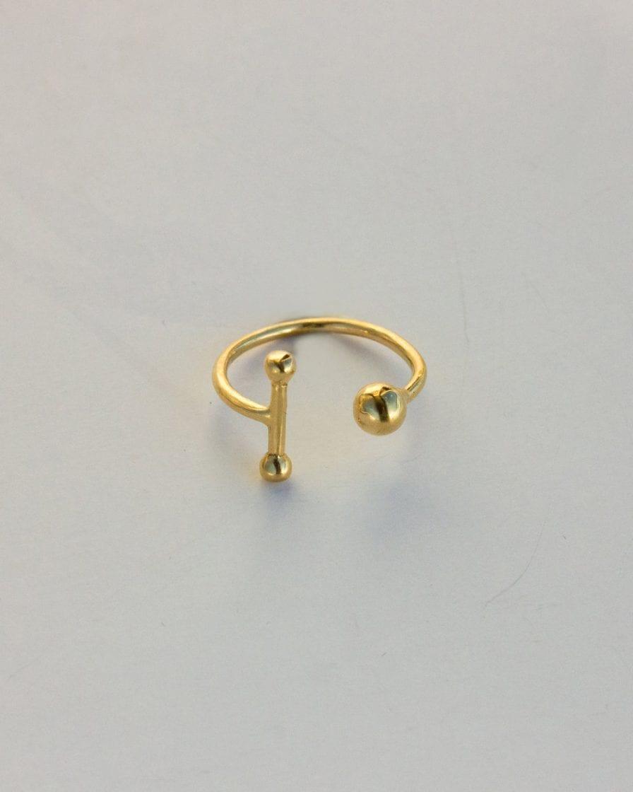 טבעת שבתאי זהב