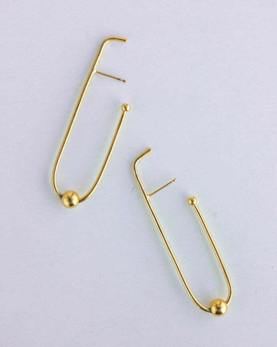 Milky Way Gold Earrings