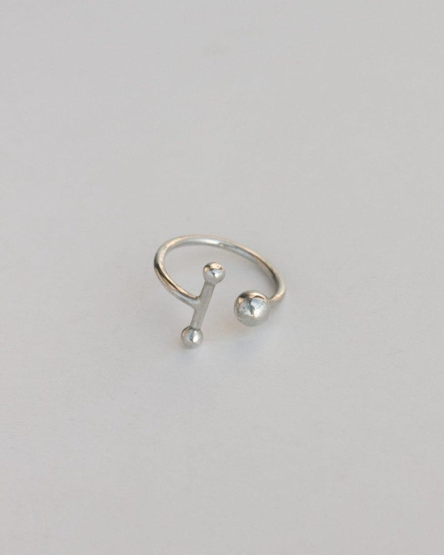 טבעת שבתאי כסף