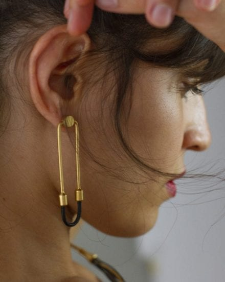 Wire Gold Earrings