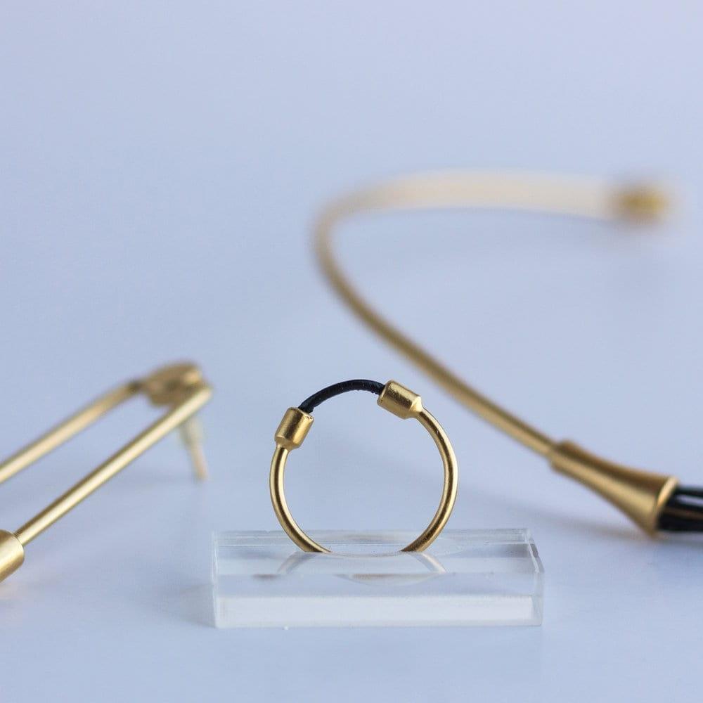 טבעת כבל זהב
