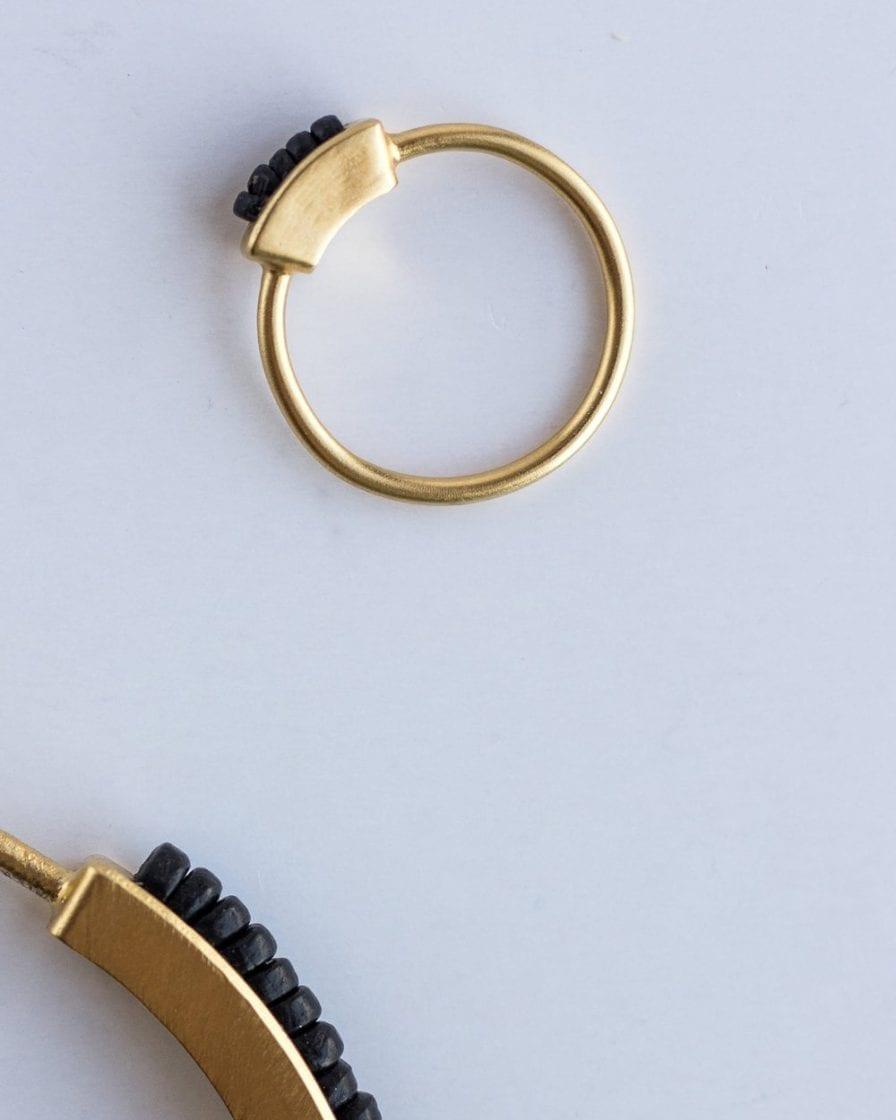 טבעת מולטי כבל זהב