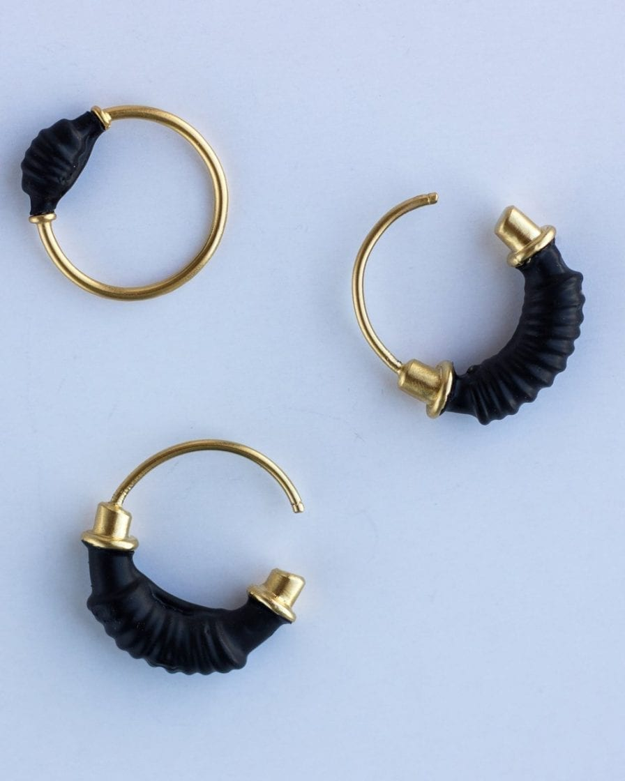 Coil Gold Earrings