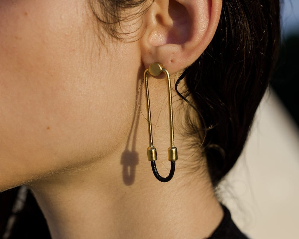 Wire Gold Earrings