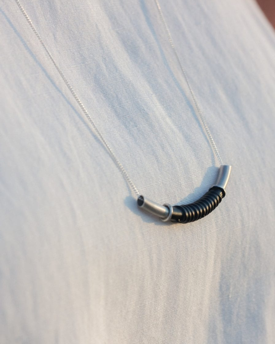Coil Silver Necklace