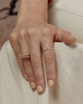 טבעת גיאומטרית כסף