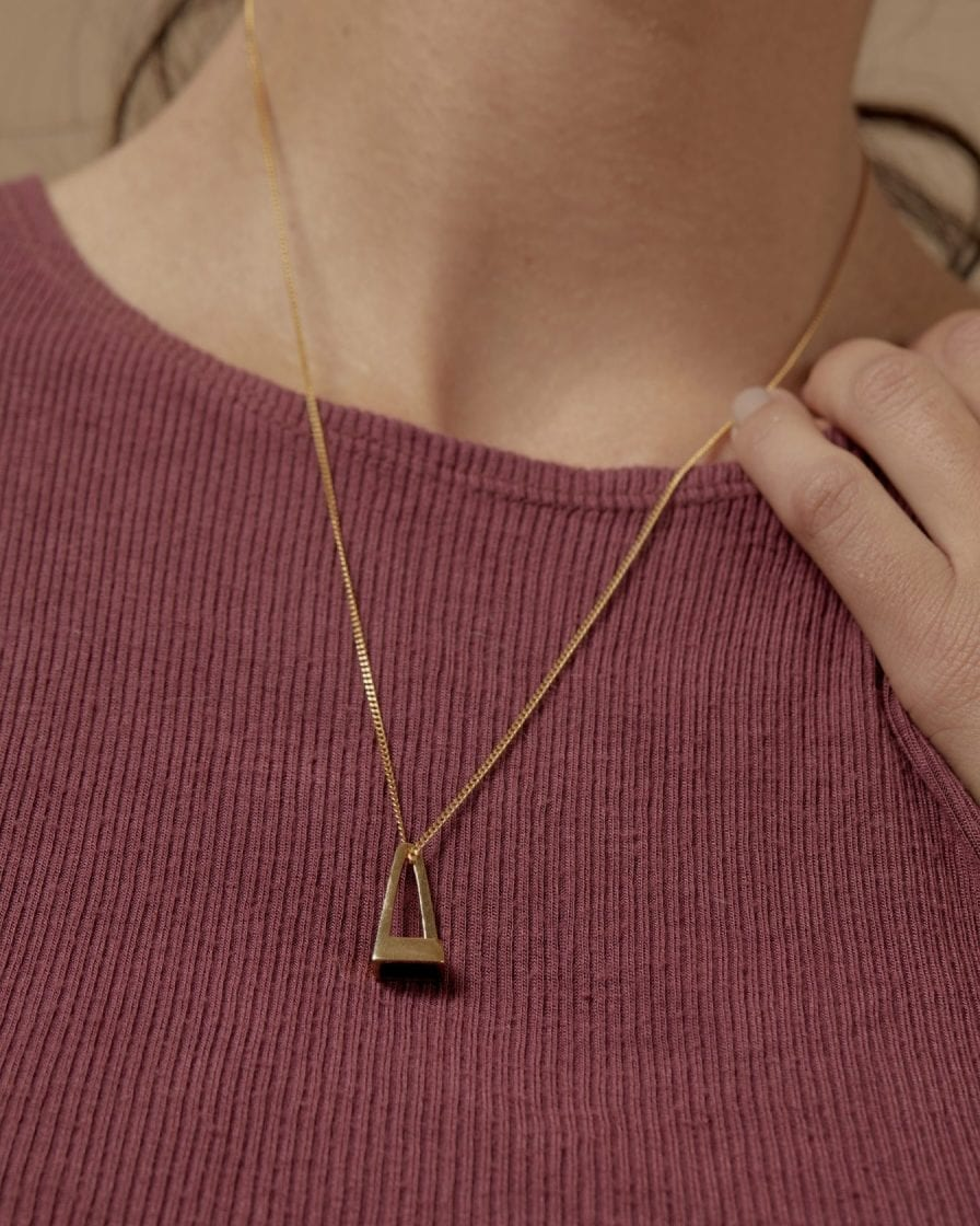 Pyramid Gold Necklace