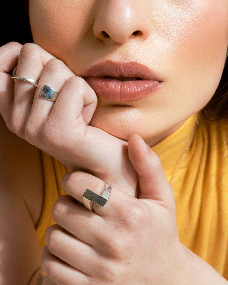 טבעת מטיל כסף