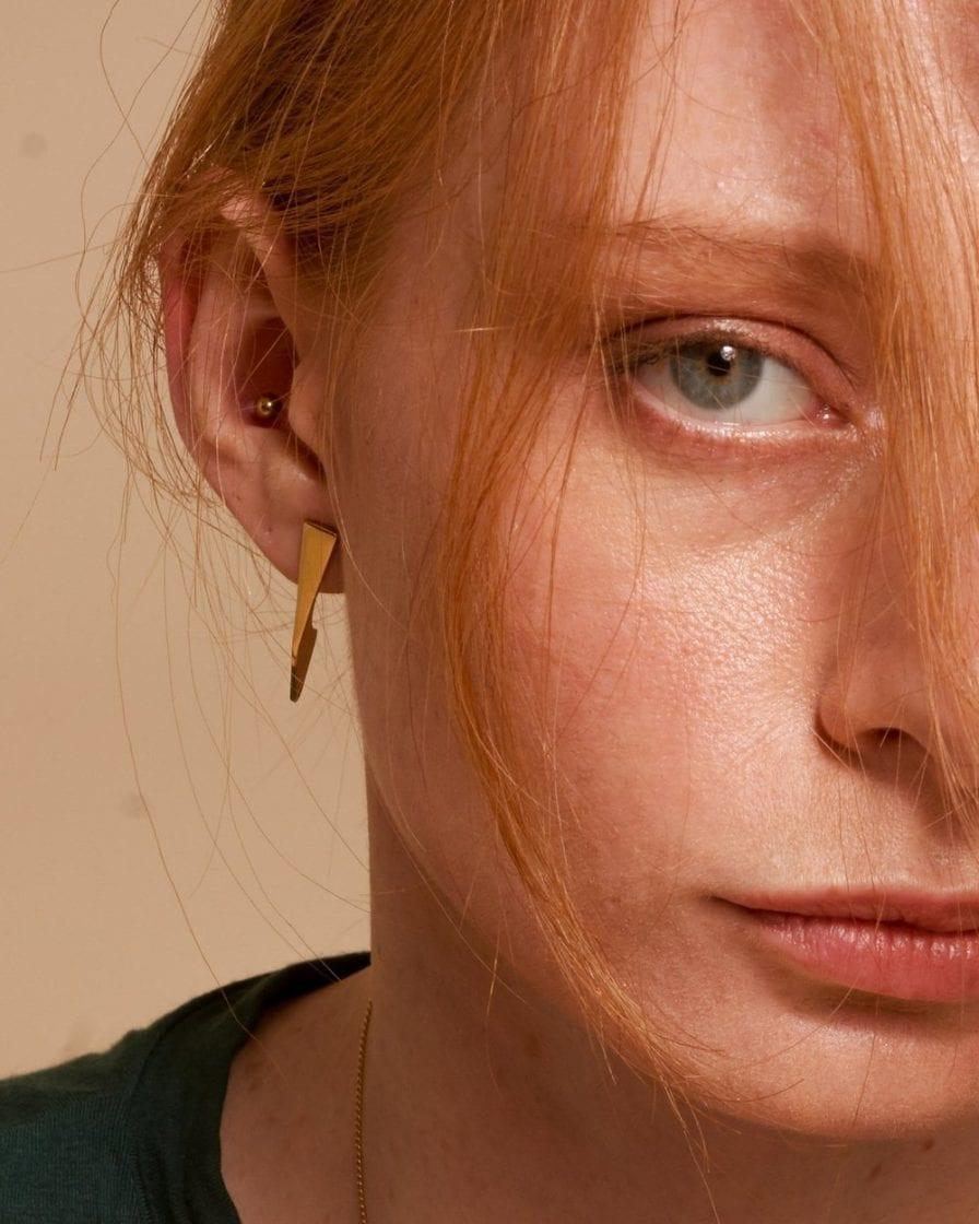 Black Diamonds Flipper Gold Earrings
