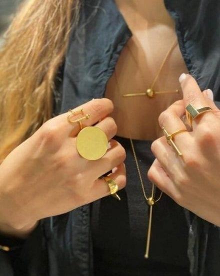 Moon Gold Ring
