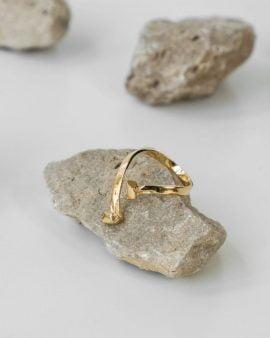 טבעת מרקורי זהב 14K