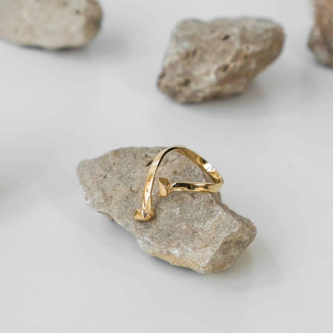 Mercury 14K Gold Ring