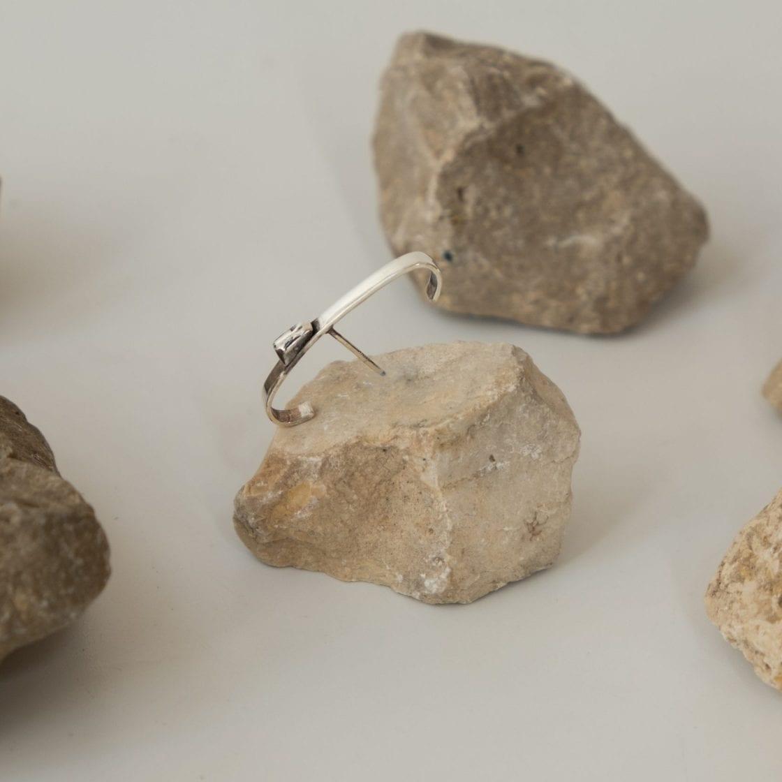 Argon Silver Earring