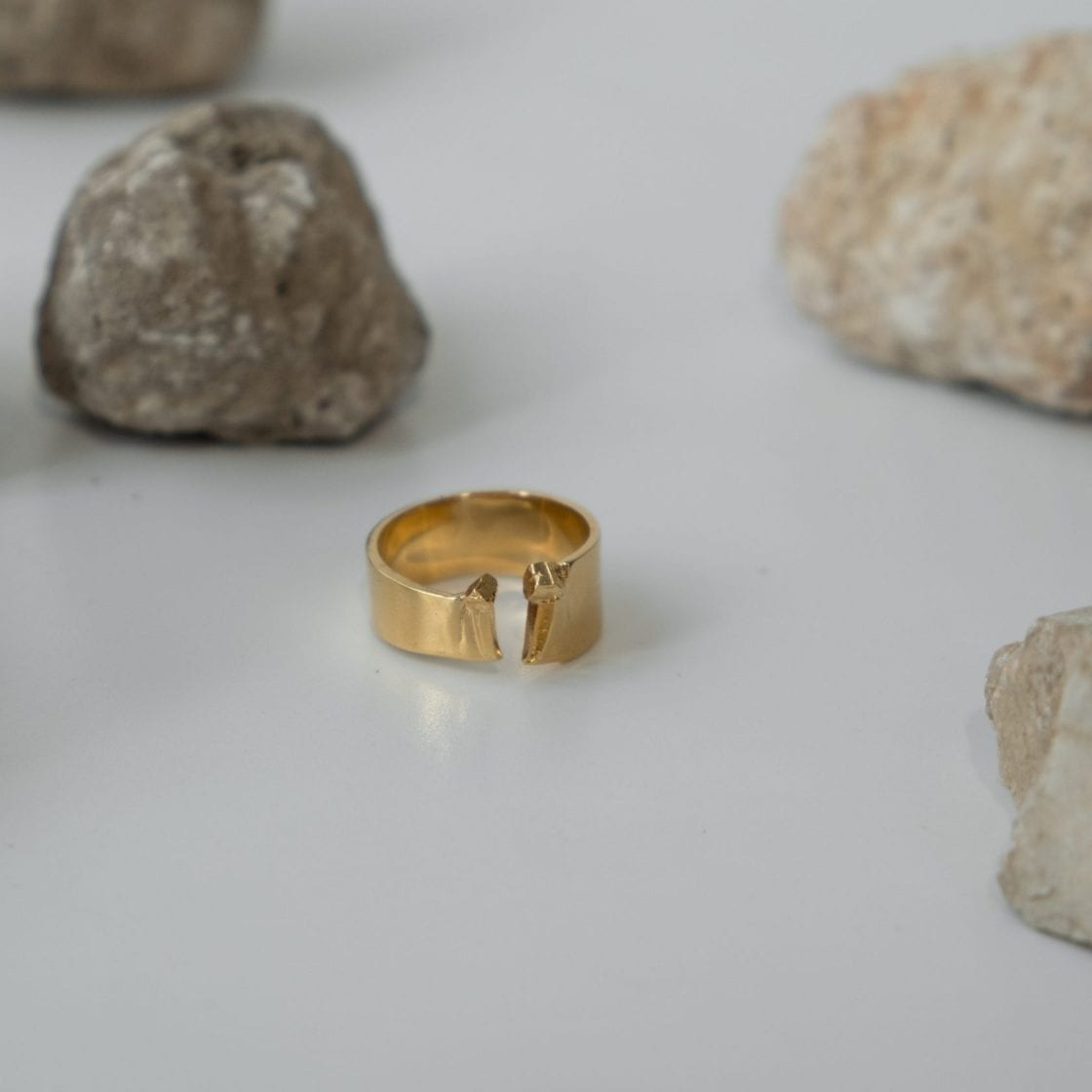 Sulfur Gold Ring