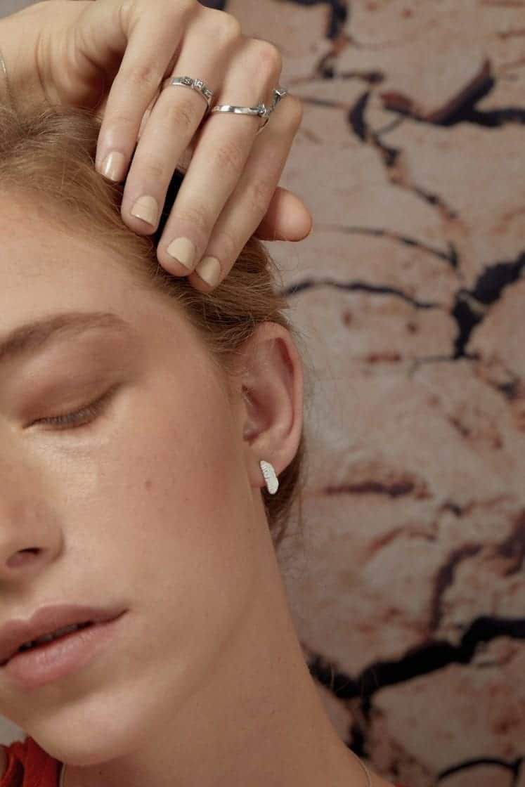 Mini Terra Silver Earring