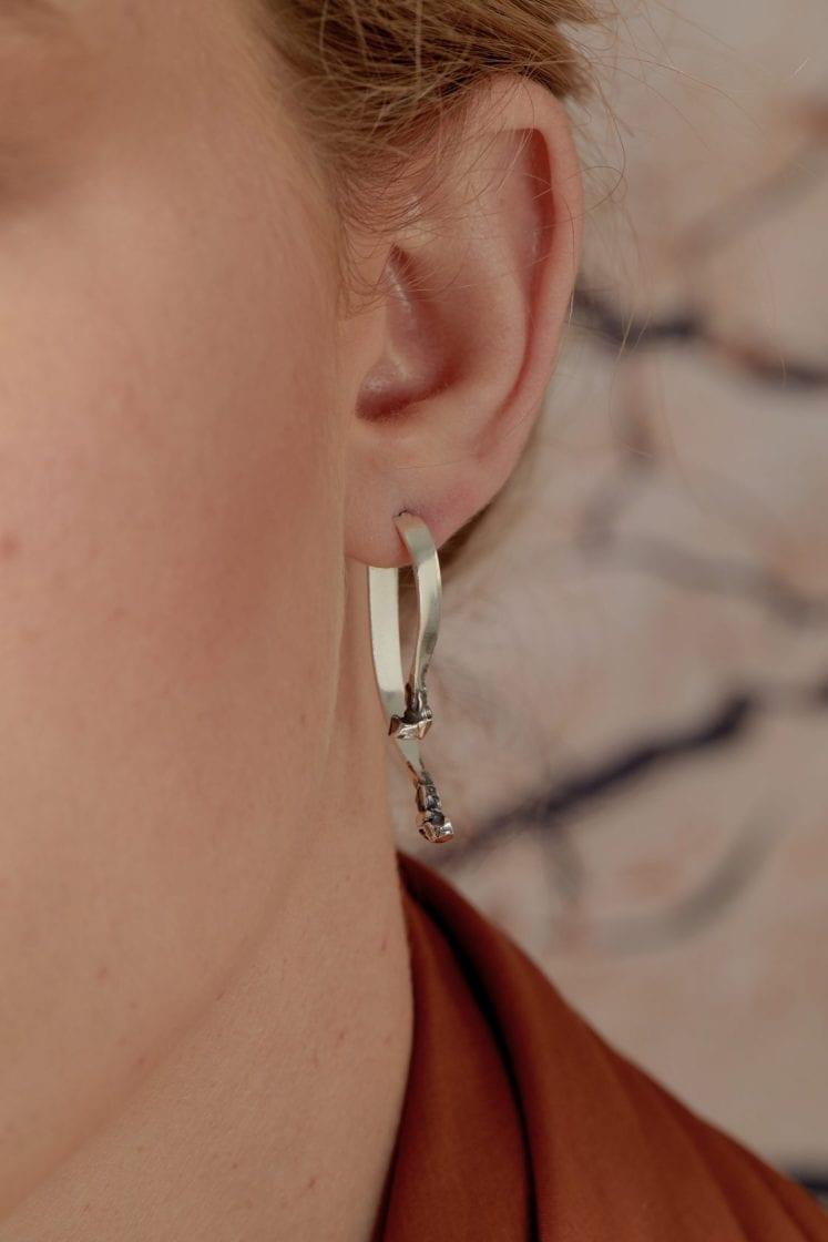 Mercury Silver Earring