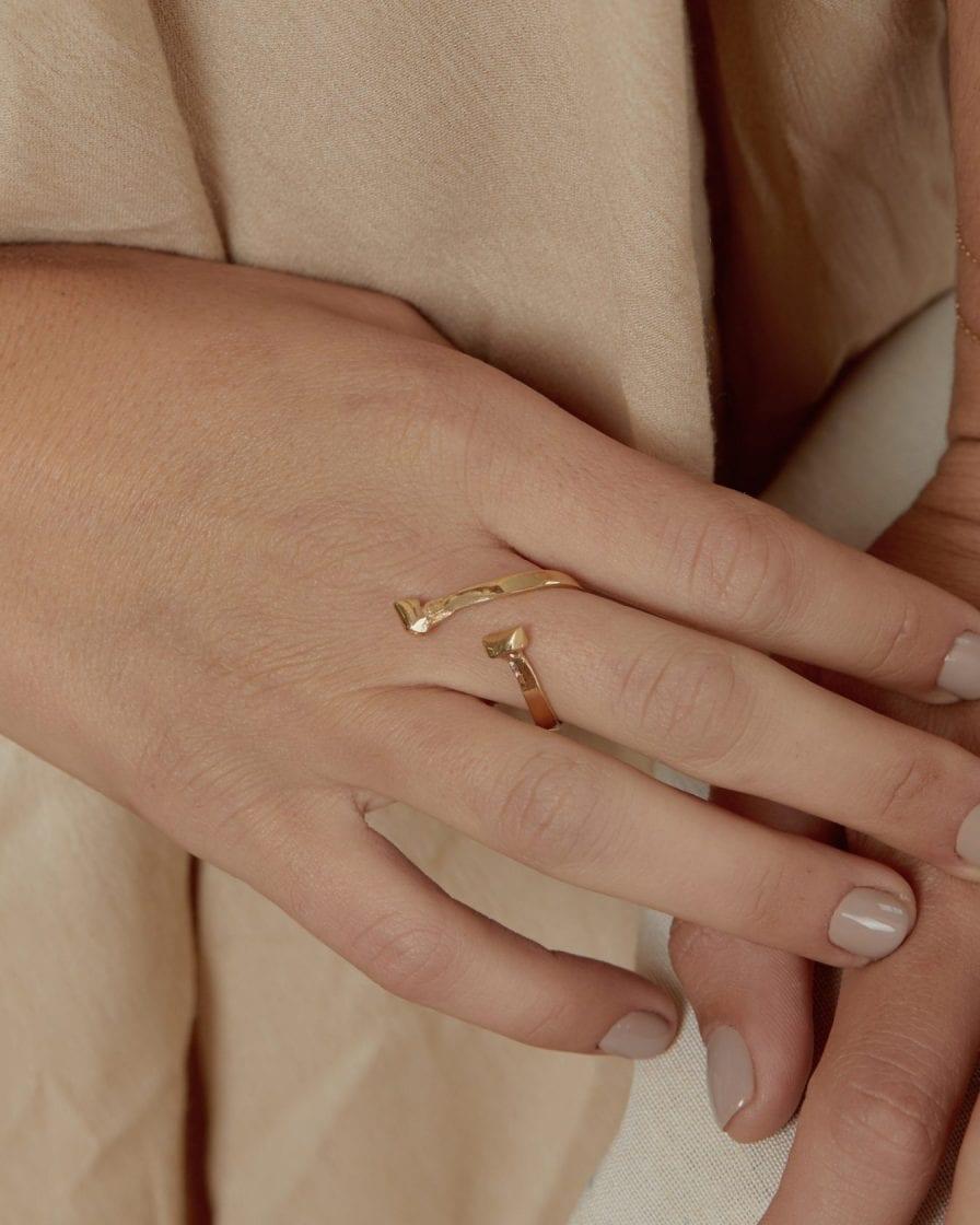 Mercury Gold Ring