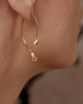 Mercury 14K Gold Earring