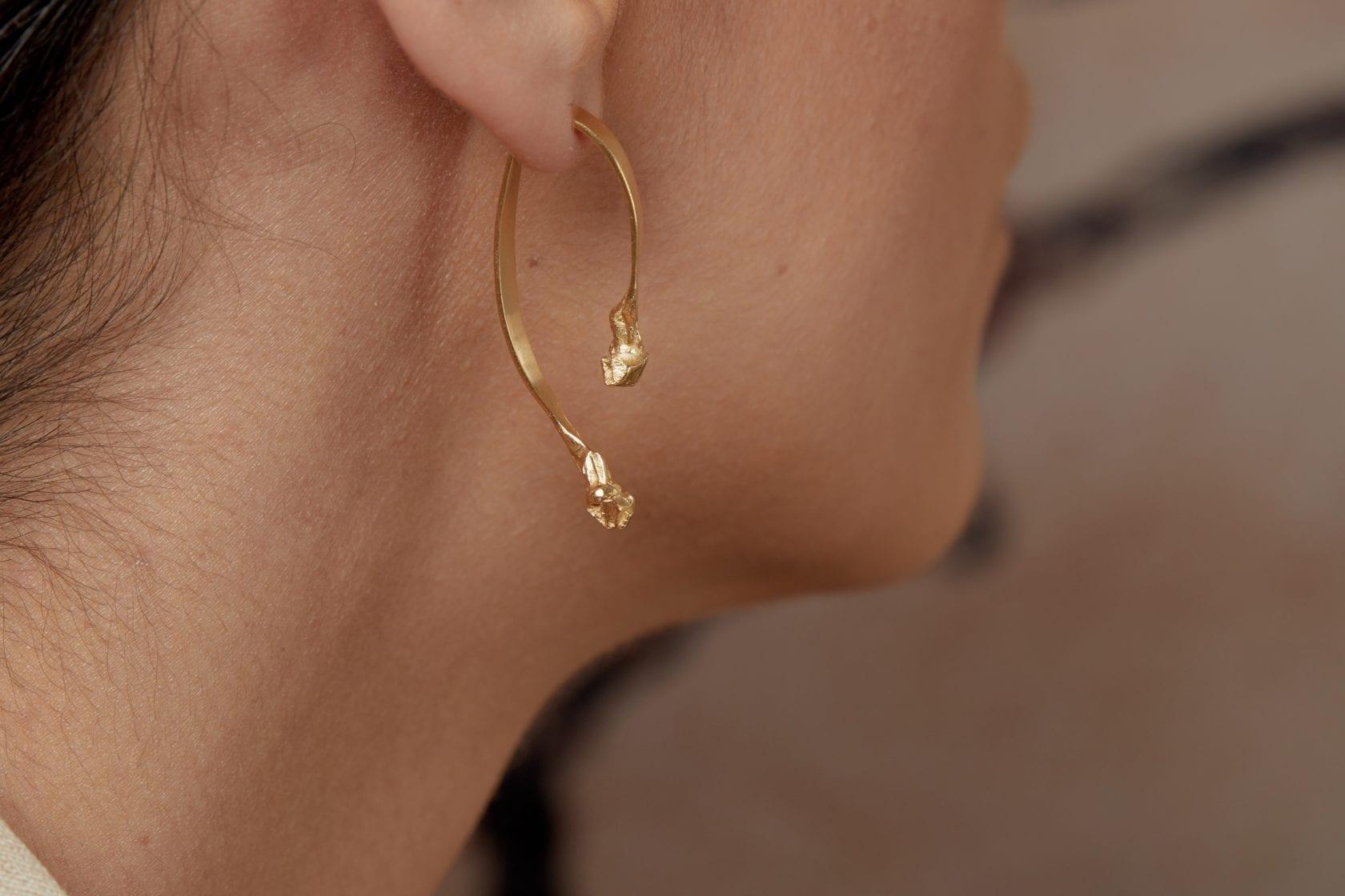 Mercury 14K Gold Earring