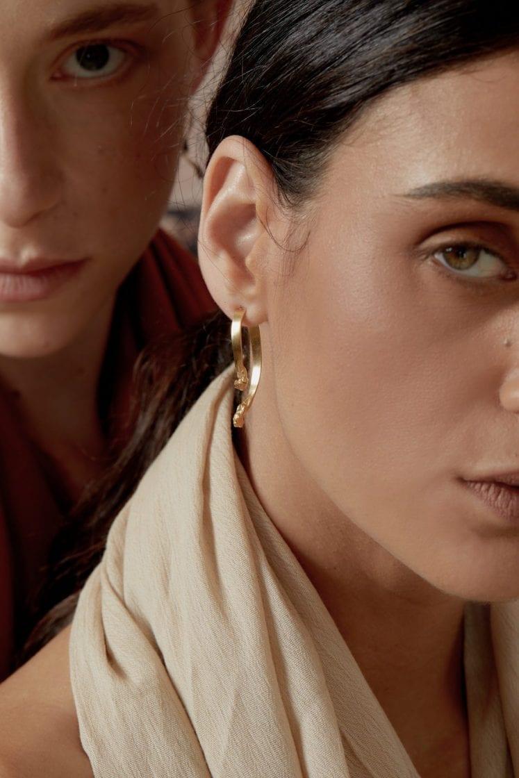 Mercury Gold Earring