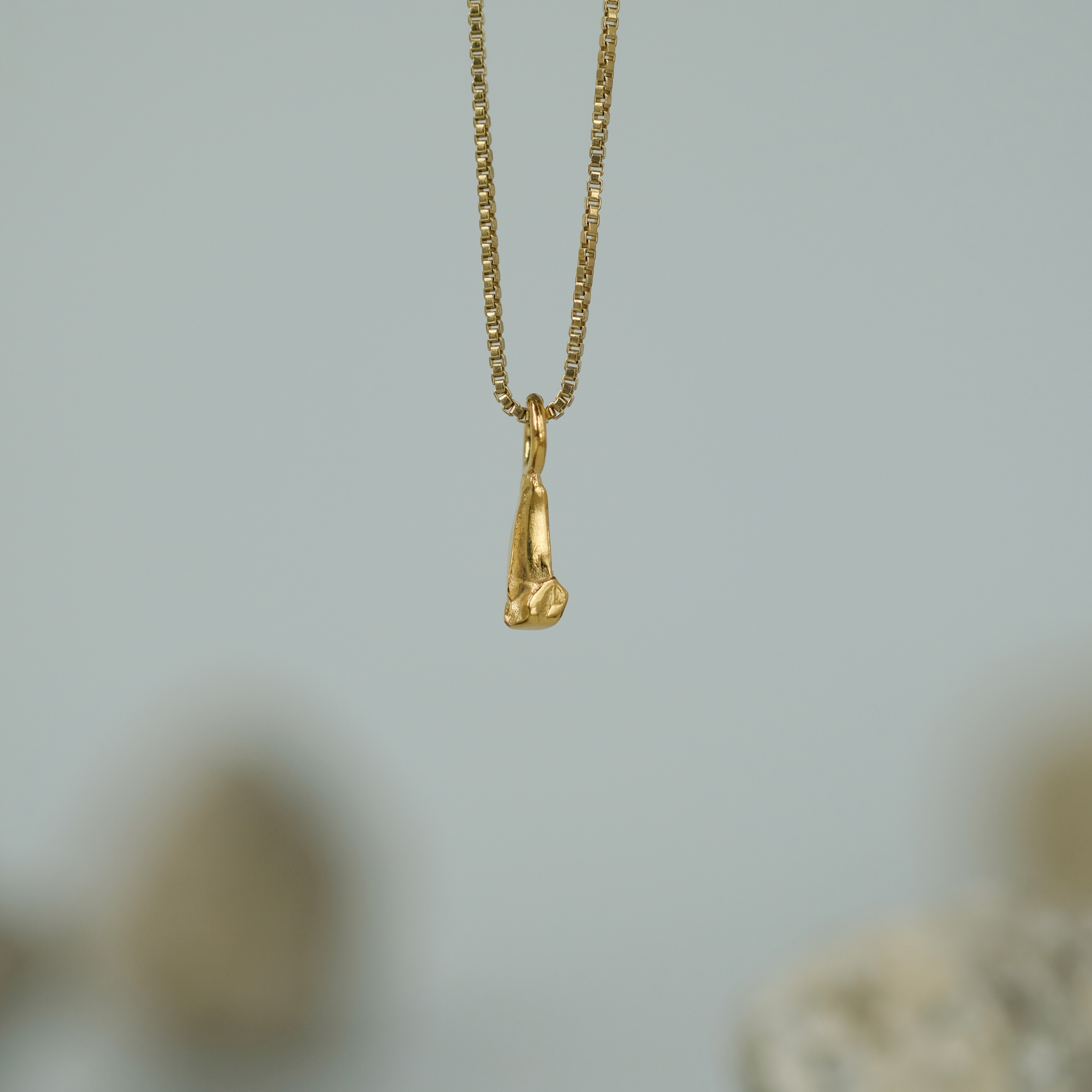 Sulfur Gold Necklace