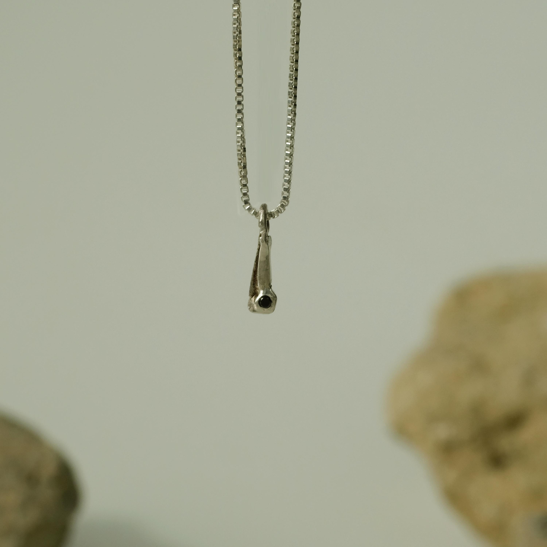 Black Diamond Sulfur Silver Necklace