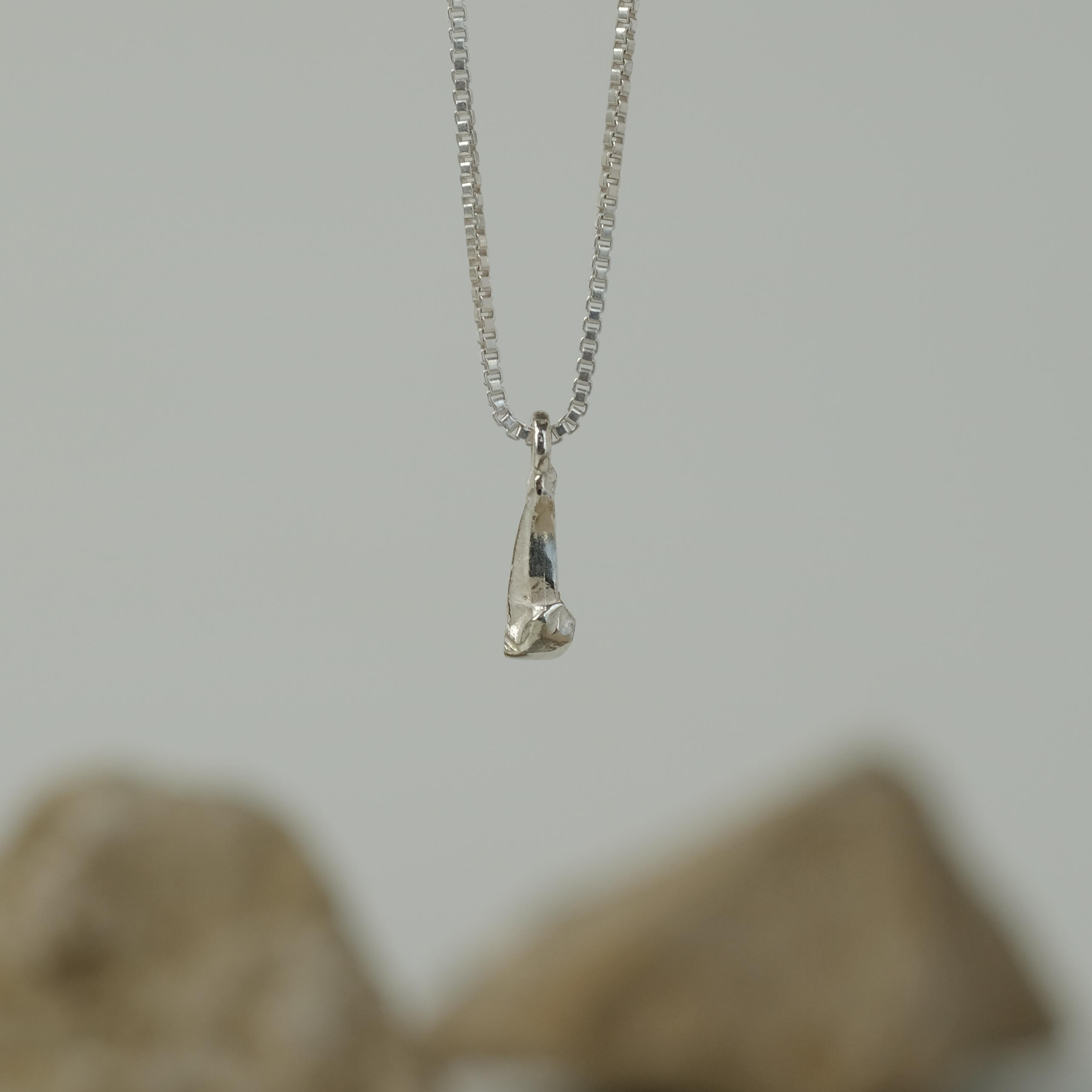 Sulfur Silver Necklace