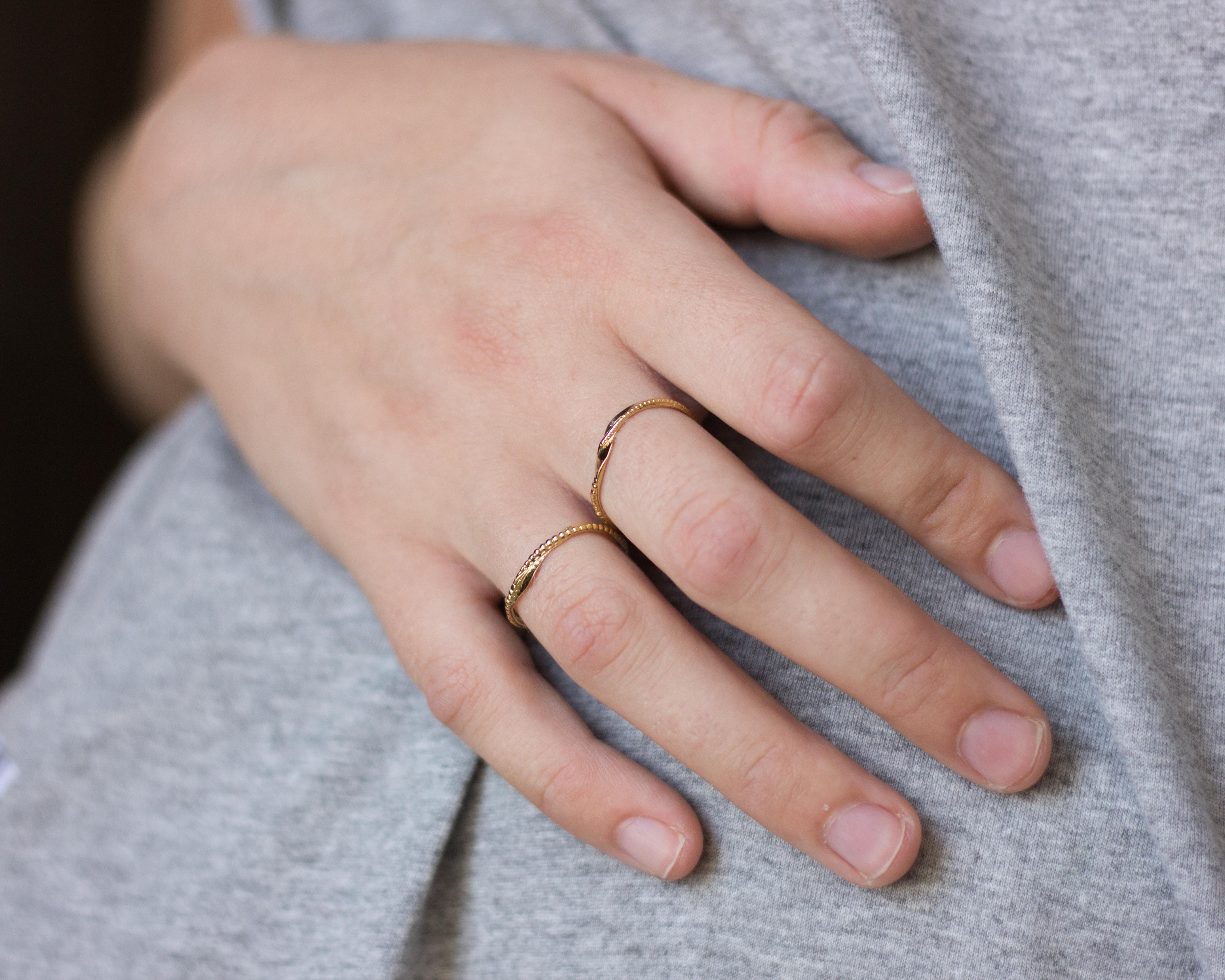 טבעת פיליגרן זהב 14K