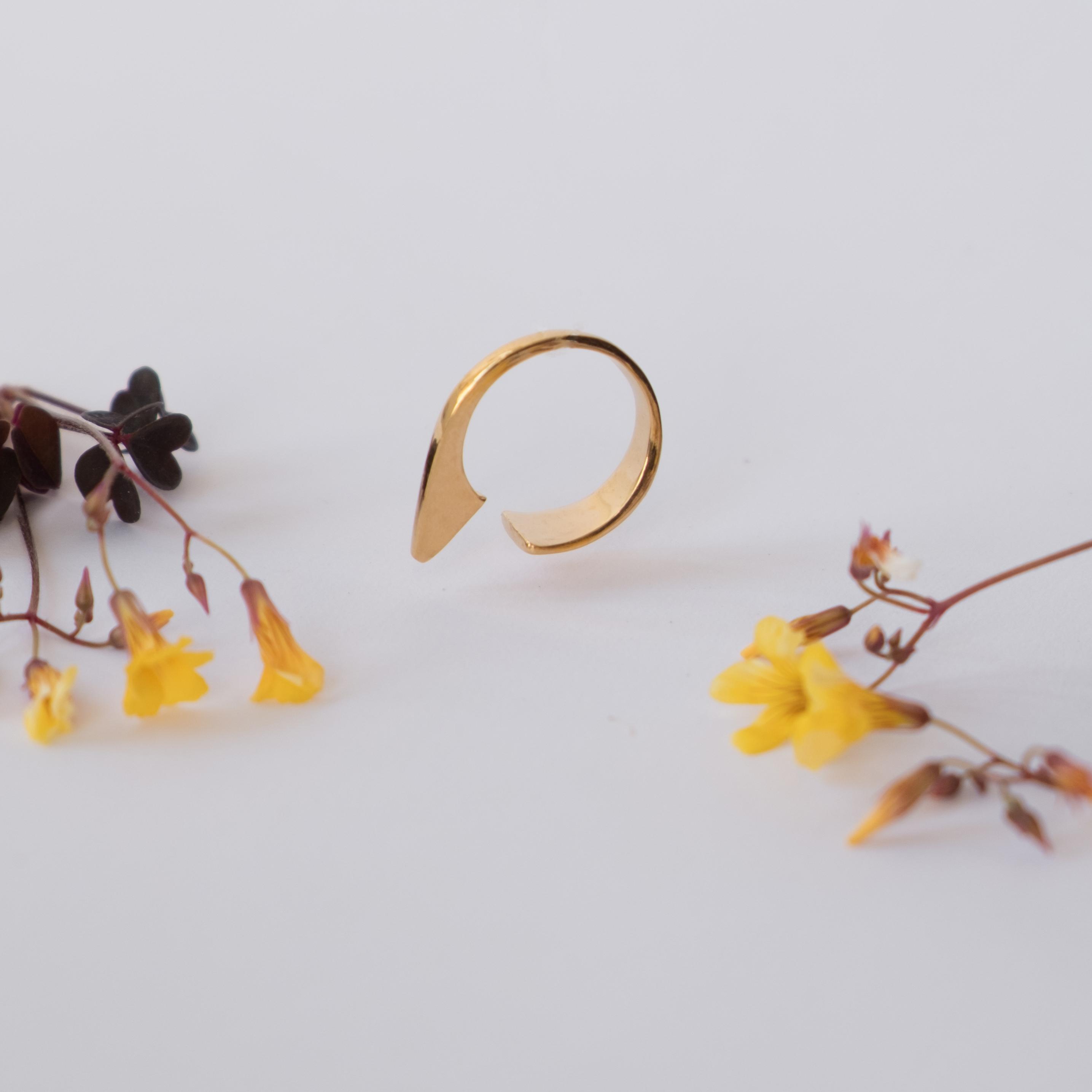 טבעת סנפיר זהב 14K