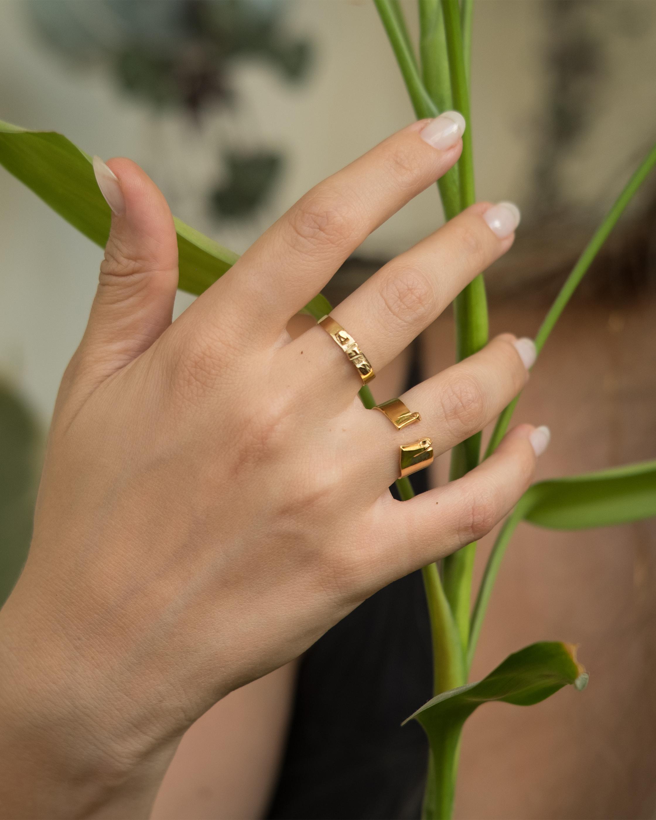 Sulfur 9K Gold Ring