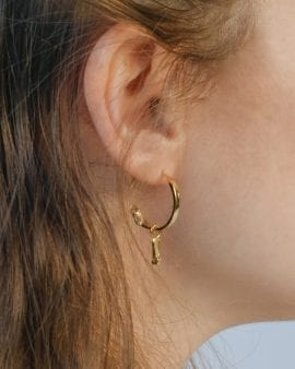 Mini Gypsy Argon Gold Earring